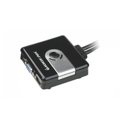 2-Port Compact USB VGA KVM with Built-in Cables