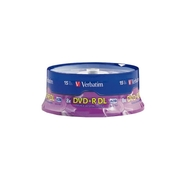 8.5 GB 8X Branded DVD+R DL Discs - 15-Pack
