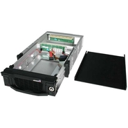 Black Aluminum 5.25in Professional SATA Hard Drive