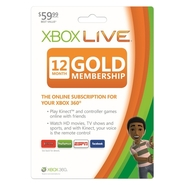 Microsoft Xbox Live Gold Subscription Card - Subsc