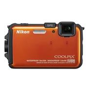 COOLPIX AW100 Orange Waterproof 16MP 5X Zoom Digit