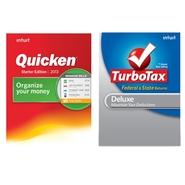 DL - Quicken Starter Ed. & DL -TurboTax Dlx W/ Sta
