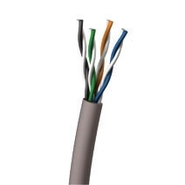 CAT5 ENH UTP White BULK CABLE PLENUM SLD WHT - 100