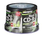Black CD-R 48x 700MB Storage Media - 50 Pack with
