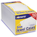 50-Pack Slim CD Jewel Case - Clear
