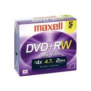 5 x DVD+RW 4.7GB with jewel case