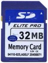 32MB 9p SD Secure Digital Card 12/7 MBs 81x With 