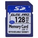 128MB 9p SD Secure Digital Card 33/17x Elite Pro