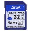 32MB 9p SD Secure Digital Card Elite Pro 9/7 MBs