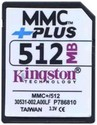 512MB 13p MMC MultiMedia Plus Card Bulk, Kingston