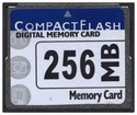 256MB 50p CF CompactFlash Card 16/10 MBs 110x wit