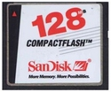 128MB 50p CF CompactFlash Card (Red White and Bla