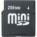 256MB MiniSD Mini Secure Digital Card 150X with A