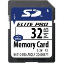 32MB 9p SD Secure Digital Card, PQI, BXI