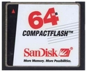 64MB 50p CF CompactFlash Card (Red/Black/White La