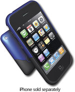 - Luxe Case for Apple iPhone 3G - Black/Blue
