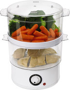 - 5-Quart Double-Tiered Food Steamer