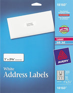 - Address Labels for Inkjet Printers