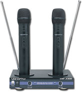 - 2-Channel VHF Rechargeable Wireless Microphone S