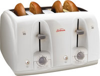 - 4-Slice Wide-Slot Toaster - White