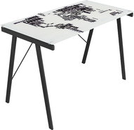 - World Map Office Desk - White/Black