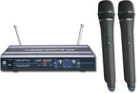 - 2-Channel UHF Wireless Microphone System