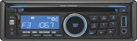 - 50W x 4 In-Dash CD Deck with Detachable Faceplat