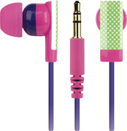 - Earbud Headphones - Pink/Green