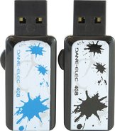 - ColorBytes Ink Splat 4GB USB Flash Drives (2-Pac