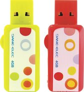 - ColorBytes Circa-Dots 4GB USB Flash Drives (2-Pa