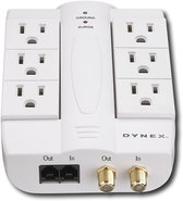 - 6-Outlet Wall-Mount Surge Protector