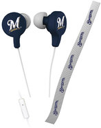 - Milwaukee Brewers Shoelace Earbud Headphones