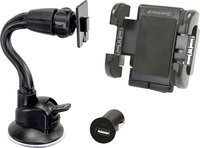 - Windshield Mount and USB Car Charger for Most GP