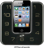 - Clock Radio - Stereo - Apple Dock Interface - Bl