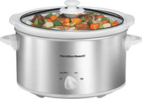 - 4-Quart Slow Cooker - Stainless-Steel/White