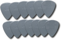 - Nylon Standard Guitar Pick (12-Pack) - Dark Gray