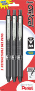 - Oh! Retractable Gel Pen (3-Pack) - Black