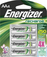 - NiMH Rechargeable Batteries AA (4-Pack)