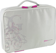 - Portable DVD Player Sleeve - Light Gray/Pink