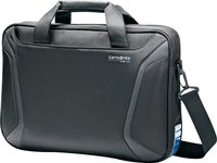 - VizAir Slim Laptop Briefcase - Black/Blue