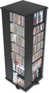 - 4-Sided Spinning Storage Tower - Black