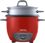 - 6-Cup Rice Cooker - Red