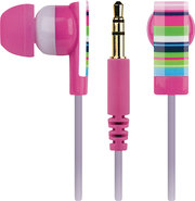 - Riviera Stripe Earphone - Pink/Black/Blue/Green