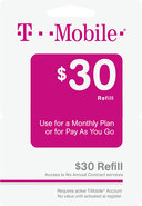 - $30 Wireless Airtime Refill Card