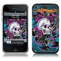 MS-EDHY40001 iPhone 2G-3G-3GS- Ed Hardy- Skull Ros