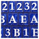 Ceramic Number Tiles - First Number Choice: 9, Sec