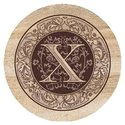 TSMX Thirstystone 4 piece Coaster Set Monogram X