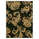 Home Nylon Bahama Black Bloom Rug - Rug Size: 7'9