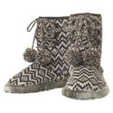 Two Color Sweater Knit Boot