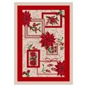 Winter Seasonal Holiday Winter Bouquet Novelty Rug